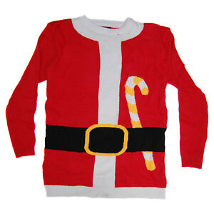 Santa-Body-X-Large-Jumper-Cool-Novelty-Xmas-Mens-Womens-Unisex-Sweater-Festive