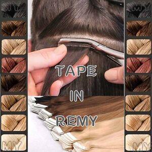 TAPE-In-Extensions-Echthaar-2-5g-Tressen-Remy-Hair-Extensions-Haarverlaengerung