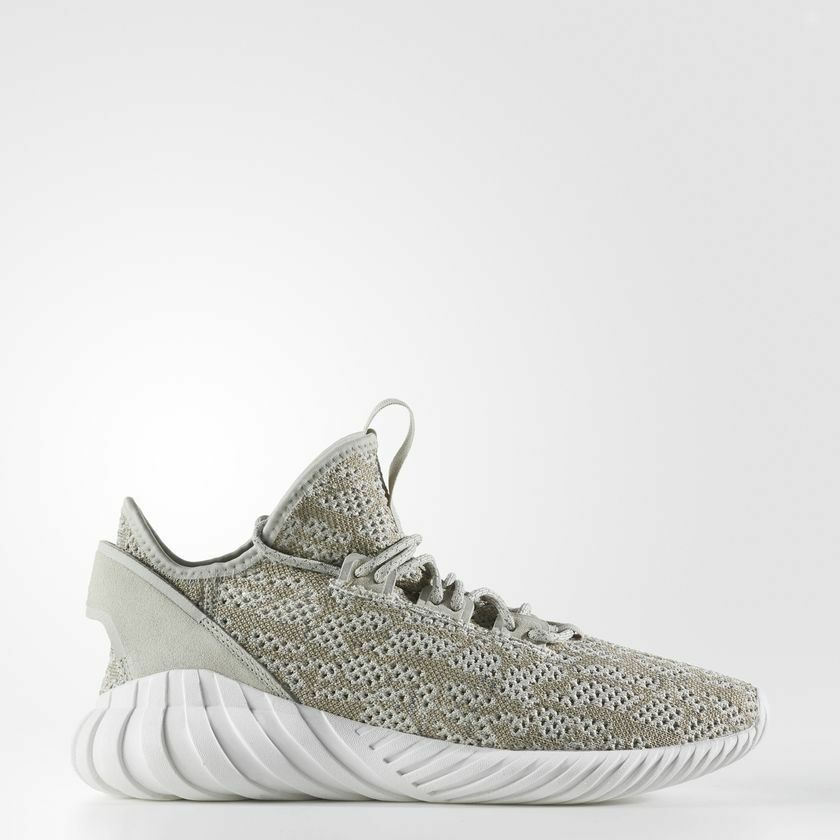 NEW MEN'S ADIDAS ORIGINALS TUBULAR DOOM SOCK PRIMEKNIT SHOES [BY3561]  SESAME