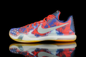 Nike-Kobe-10-X-Elite-size-13-5-4th-of-July-USA-Independence-Red-705317-604
