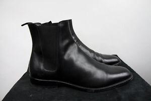 b9e12387973b Image is loading Saint-Laurent-Paris-Black-Leather-Chelsea-Boots-Hedi-