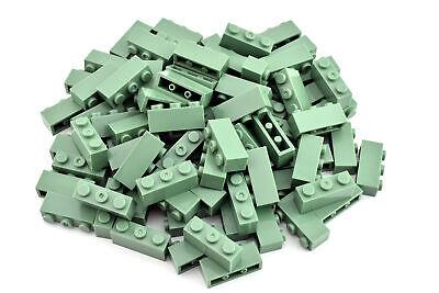 TCM Compatible Bricks Sand Green Window 1x4x1 2//3 Spoked RND Top QTY:8