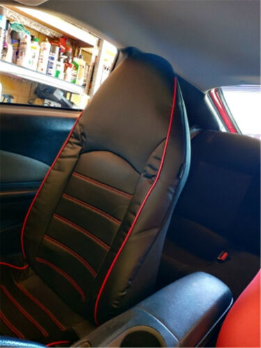 2X Synthetic Leather Universal Front Bucket Seat Covers Set For Auto Accessories