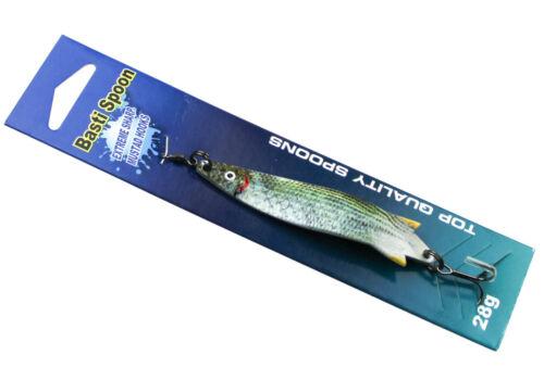 TRENDEX Basti Spoon Spinnfischen /& Trolling Blinker Löffelblinker Mustad Haken