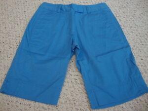 Women-039-s-ADIDAS-blue-stretch-shorts-6