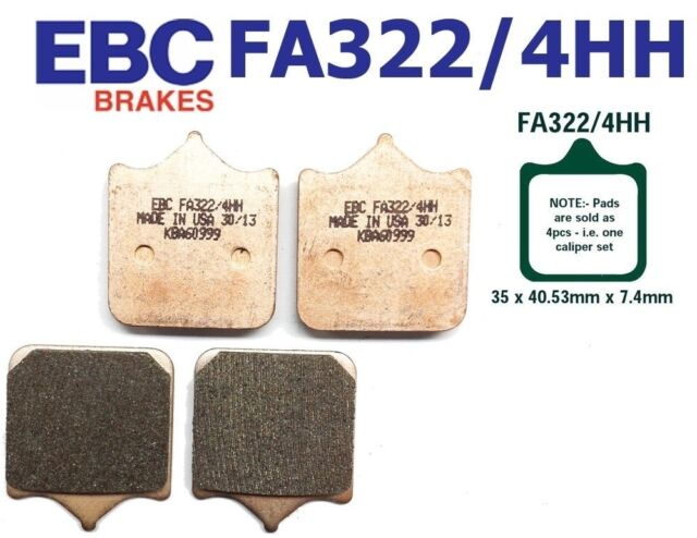 EBC GARNITURES DE FREIN Fa322/4HH avant Triumph Speed Triple Brembo Radial