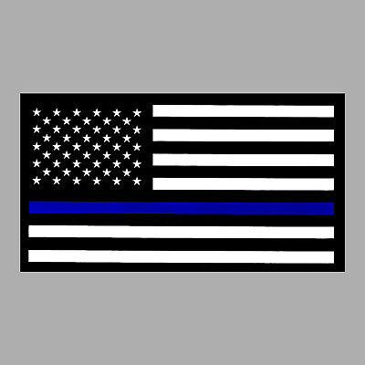 NRA Bumper Sticker THIN BLUE LINE Flag window decal Support Police Sheriff LEO