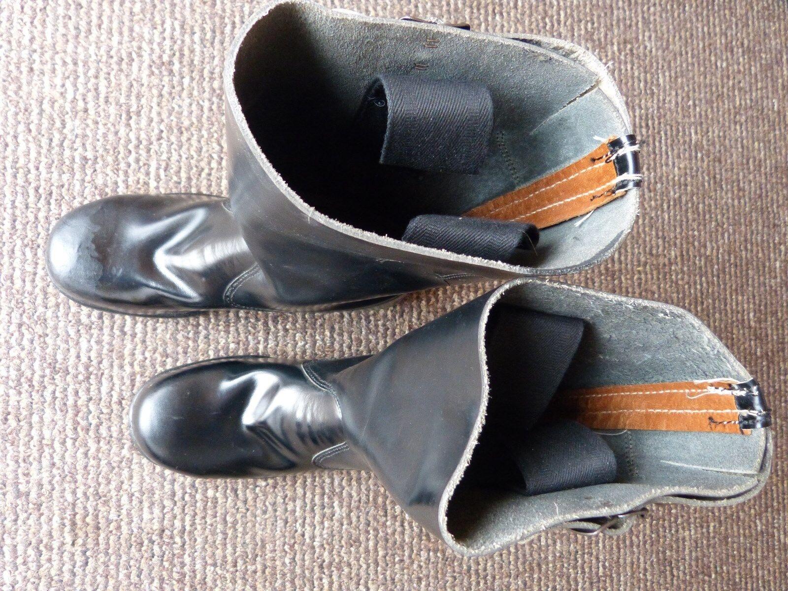 Stivali di pelle, uomo, Nero, Tg. 40 Vigili del Fuoco Stivali