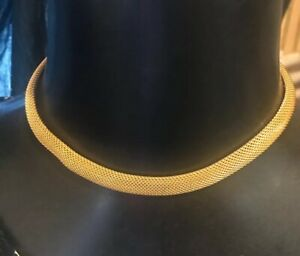Vintage-Gold-Tone-Collar-Mesh-Necklace