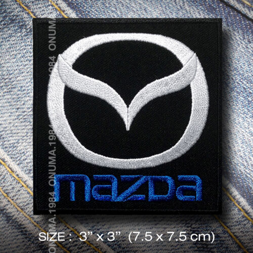 MAZDA IRON ON PATCHES DIY Custom Clothes Shirt Jacket Sport Racing Modify Speed