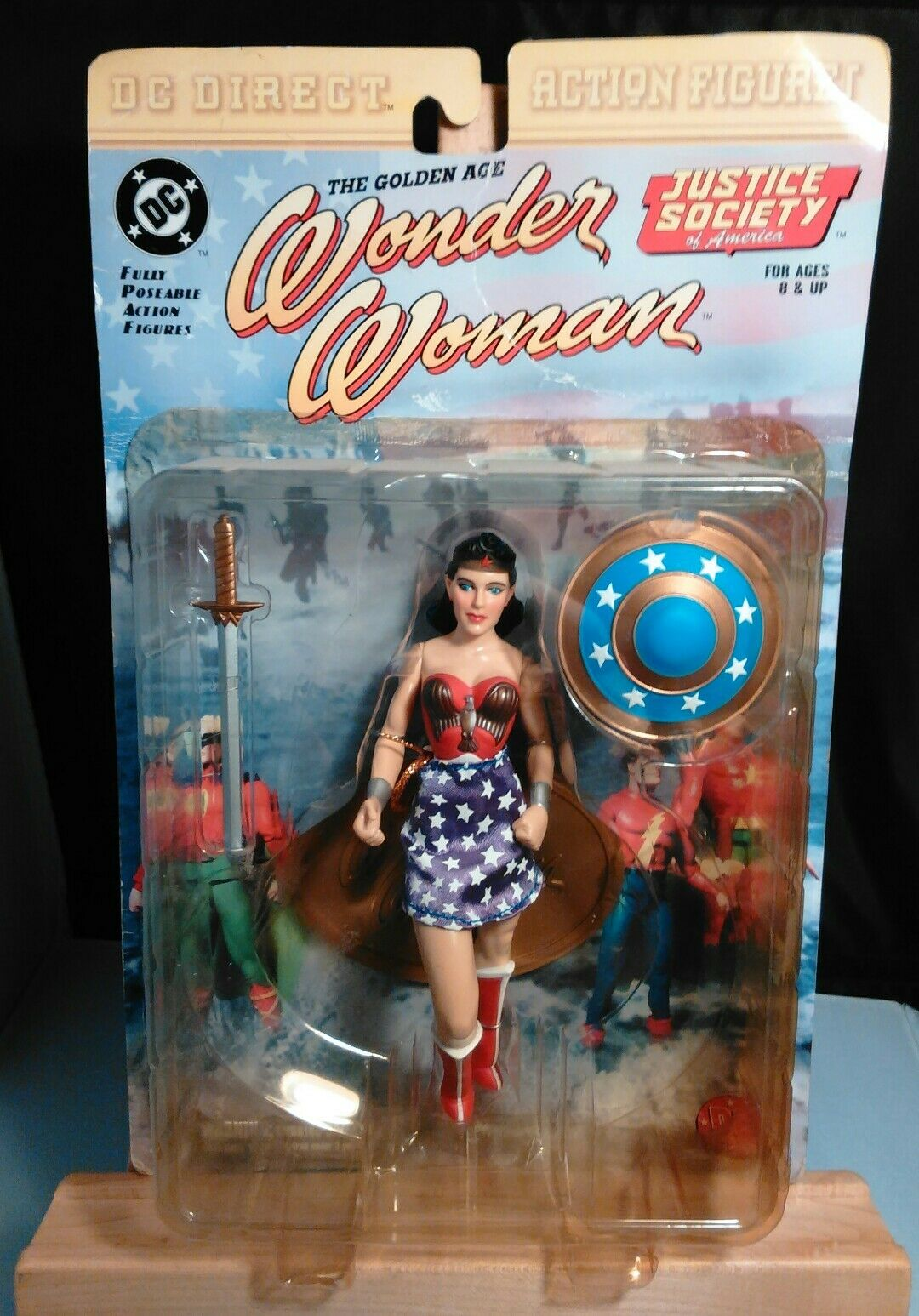 2000-DC DIRECT -WONDER WOMAN GoldEN AGE- RARE lila SKIRT
