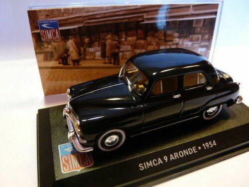 SIM8F voiture altaya IXO 1//43 SIMCA SIMCA 9 aronde 1954