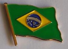Brazil Brasil Country Flag Enamel Pin Badge