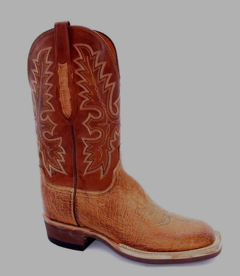 NEW  MEN'S LUCCHESE SMOOTH OSTRICH CREPE SOLE COWBOY WESTERN BOOTS  AX2024.W8