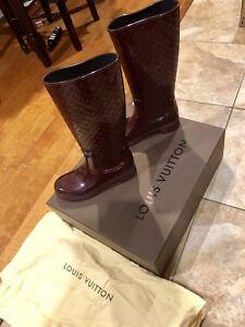 eab0b6c3a9d Image is loading Authentic-Louis-Vuitton-Monogram-Splash-Rain-Boots-Size-