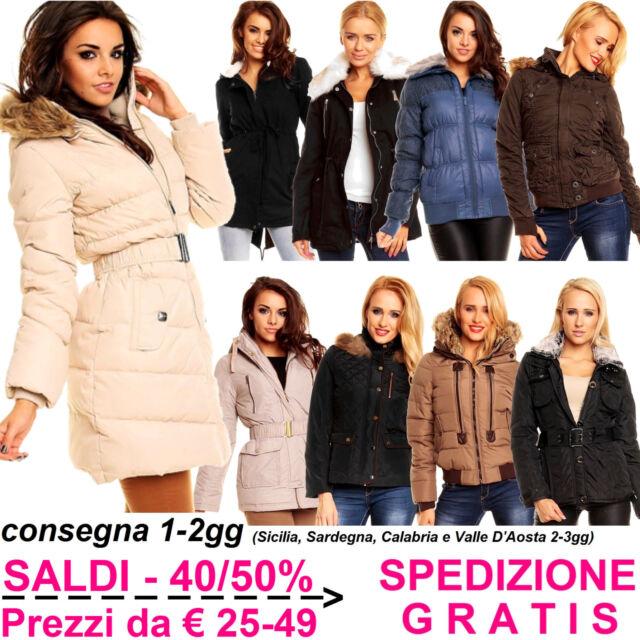 reputable site 742e3 752cc Giubbotto Invernale da Donna Giubbino Pesante Imbottito Piumino Moda per  Inverno