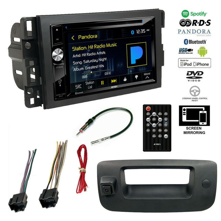 double din bluetooth stereo backup camera chevy silverado sierra radio dash kit ebay. Black Bedroom Furniture Sets. Home Design Ideas