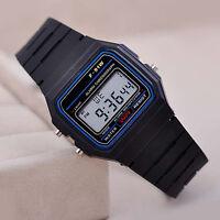 SHARK Mens LED Date Day Black Sport Military Stainless Steel Alarm Quartz Wrist Watch SH105