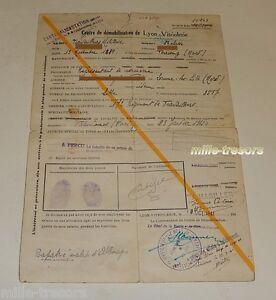 Centre-de-DEMOBILISATION-de-LYON-VITRIOLERIE-1941-Rapatrie-Malade-d-039-ALLEMAGNE