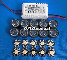 3w full spectrum led 380-840nm + 90degree lens + 6-10x3w led driver for diy