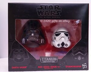 Star Wars Titanium Series Helemets 03 Darth Vader /& Stormtrooper