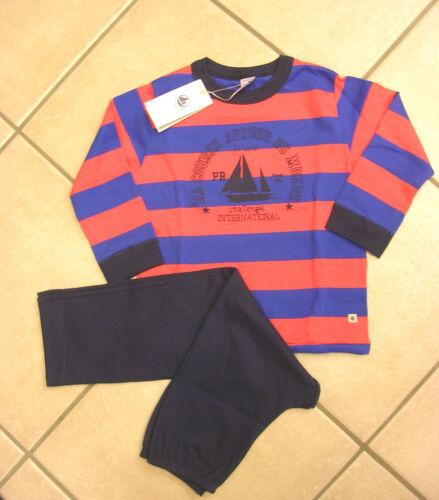 bis Gr Petit Bateau Schlafanzug 16 v blau//orange geringel BRANDNEU!!!