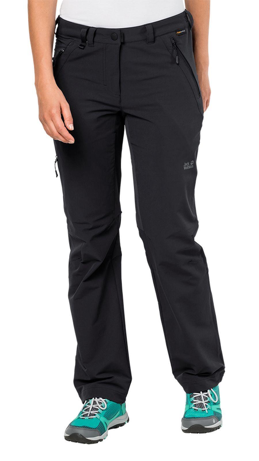 Jack Wolfskin señora senderismo outdoor-pantalones Activate XT Pants mujer negro