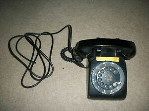 VINTAGE-BLACK-TELEPHONE-ROTARY-DIAL-WESTERN-ELECTRIC-BELL-TELEPHONE