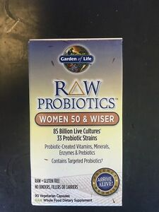 Garden of life raw probiotics women 50 and wiser 90 vegetarian caps 85 billion 658010115681 ebay for Garden of life probiotics review