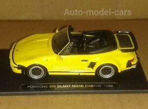 PORSCHE-911-slant-nose-cabrio-auto-sportiva-tedesca-in-scala-1-43-ottime-condizioni