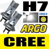 H7 CREE ERROR FREE CANBUS SUPER PURE BRIGHT WHITE XENON HEADLIGHT BULBS x2 12v