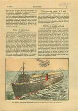 Aircraft Carrier Ship Navires Porte-Avions US Navy USA 1925 ILLUSTRATION