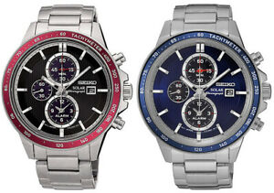 Seiko-Men-039-s-Solar-Chronograph-Quartz-100m-Stainless-Steel-Watch