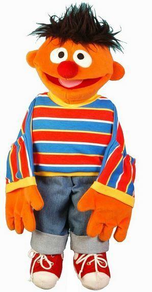 Living Puppets SE200 Pequeño Ernie Marioneta Títere 45 cm de el Barrio Sésamo
