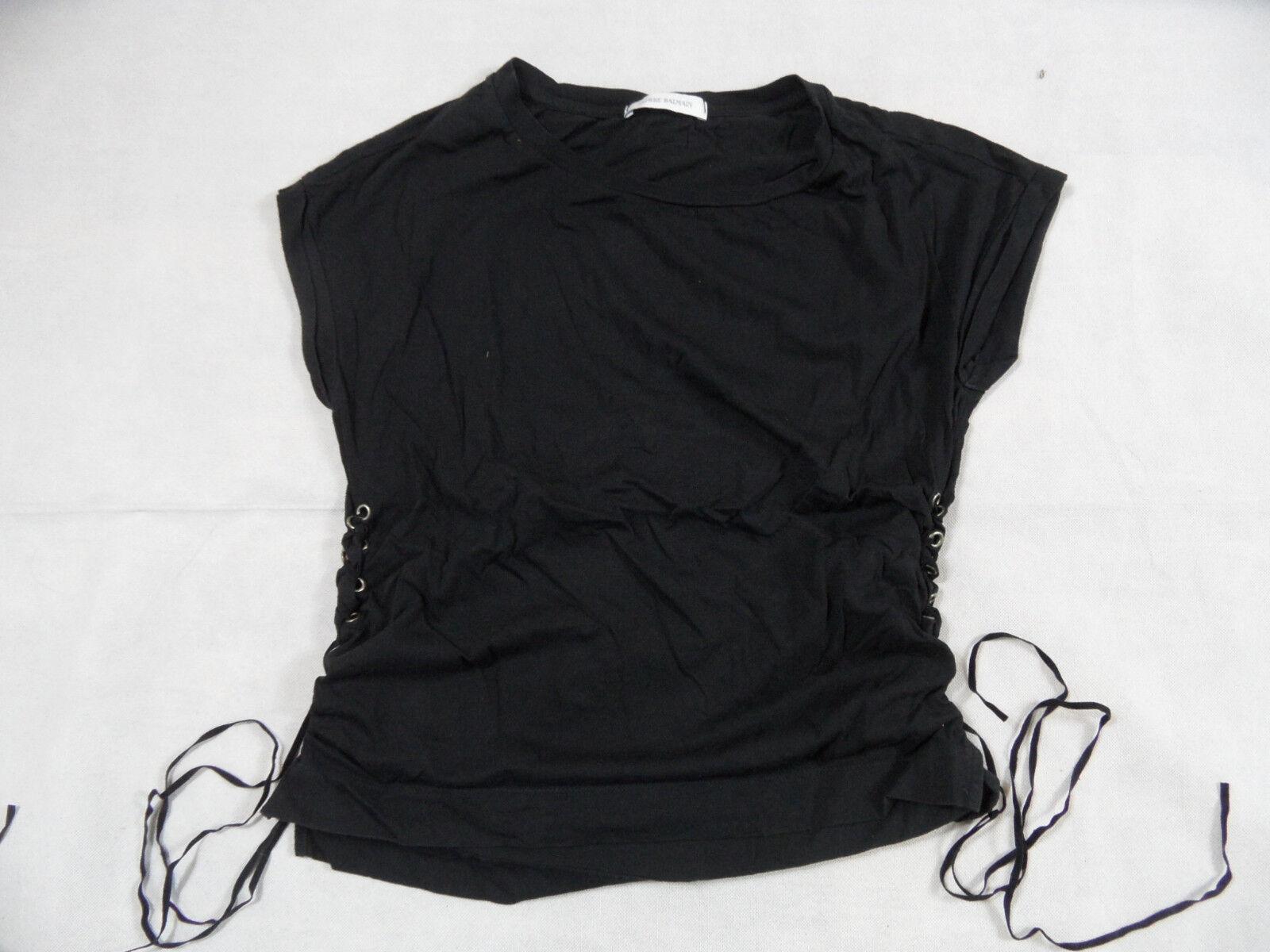 PIERRE BALMAIN tolles Shirt schwarz mit Schnürung Gr. 36 TOP BI119