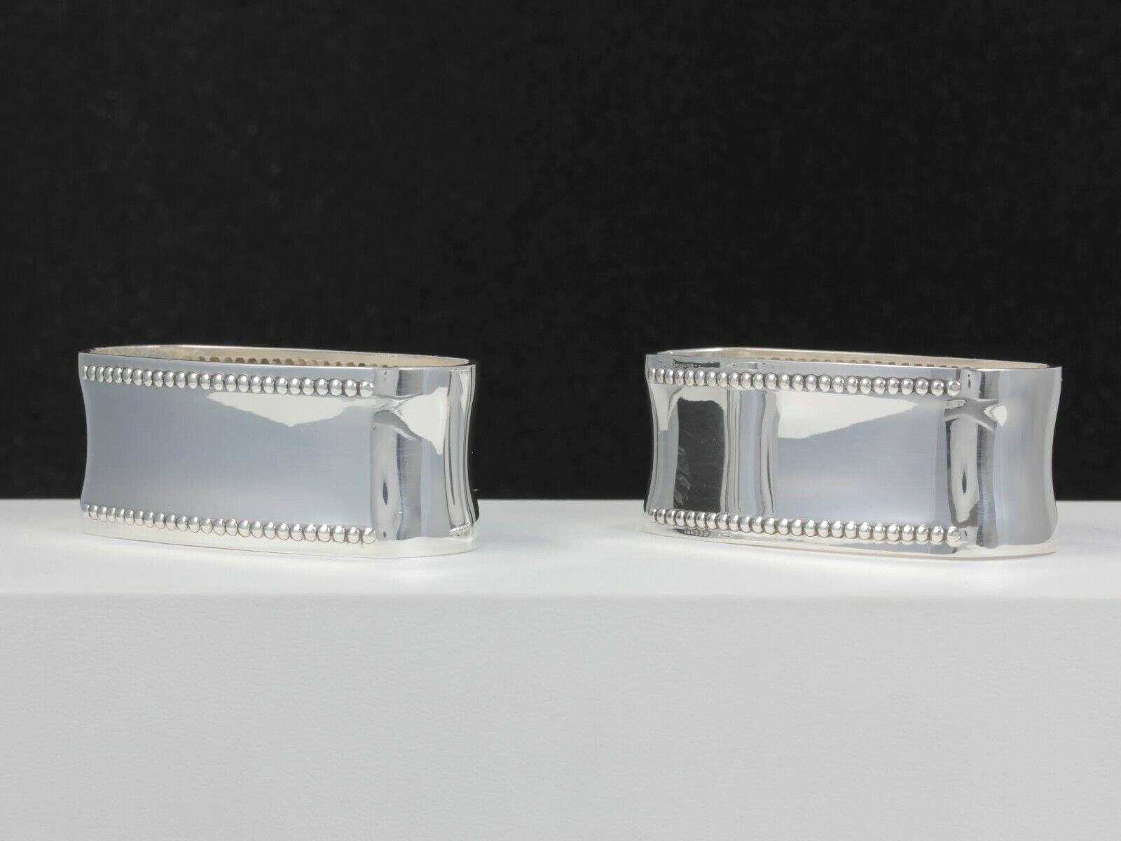 Bsf exclusivas servilleteros perlrand   800er plata   2 unid.