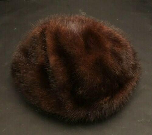 Brown Faux Fur Beanie Round Bucket Hat Winter