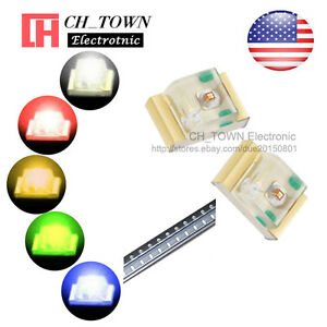 5-Lights-100PCS-0805-2012-SMD-SMT-LED-Diodes-White-Red-Yellow-Green-Mix-Kits