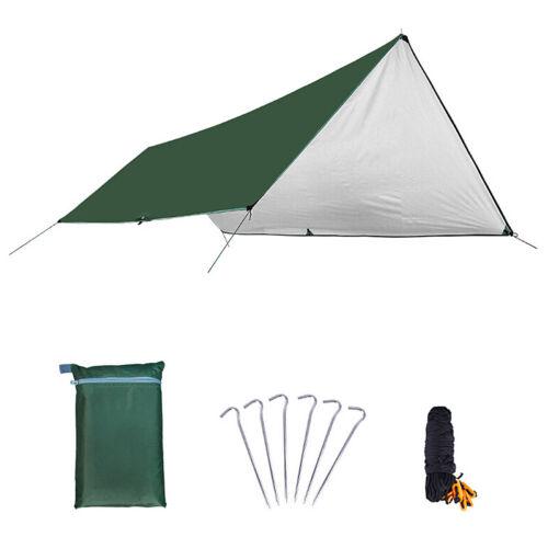 Ultralight Tarp Tent Sun Shelter Anti UV Silver Coating  Awning Camping Beach A+