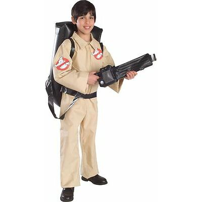 Boys Ghostbusters Costume Official Ghostbuster Halloween Fancy Dress Child