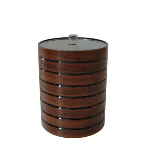 Braune Wattedose Kosmetikdose Wattepad Behälter in Holzoptik Badserie MADERA