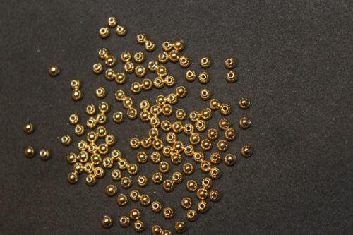 100 Stück Metallic-Perlen 3 mm