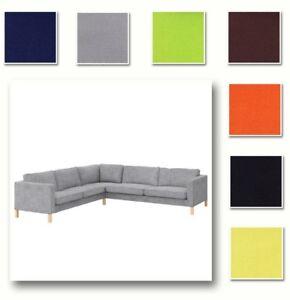 Details zu Nach Maß Abdeckung Passend für IKEA Karlstad 2+3/3+2 Ecksofa,  Bezug 32 Optione