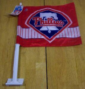PHILADELPHIA-PHILLIES-MLB-BASEBALL-CAR-FLAG-NEW-w-TAG