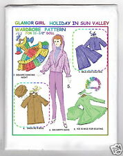 """Glamor Girl Fits BARBIE Holiday Sun Valley doll Pattern 11-1/2"""""""