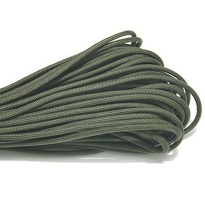 550 Paracord Parachute Cord Lanyard Mil Spec Type III 7 Strand Core 50 100 FT