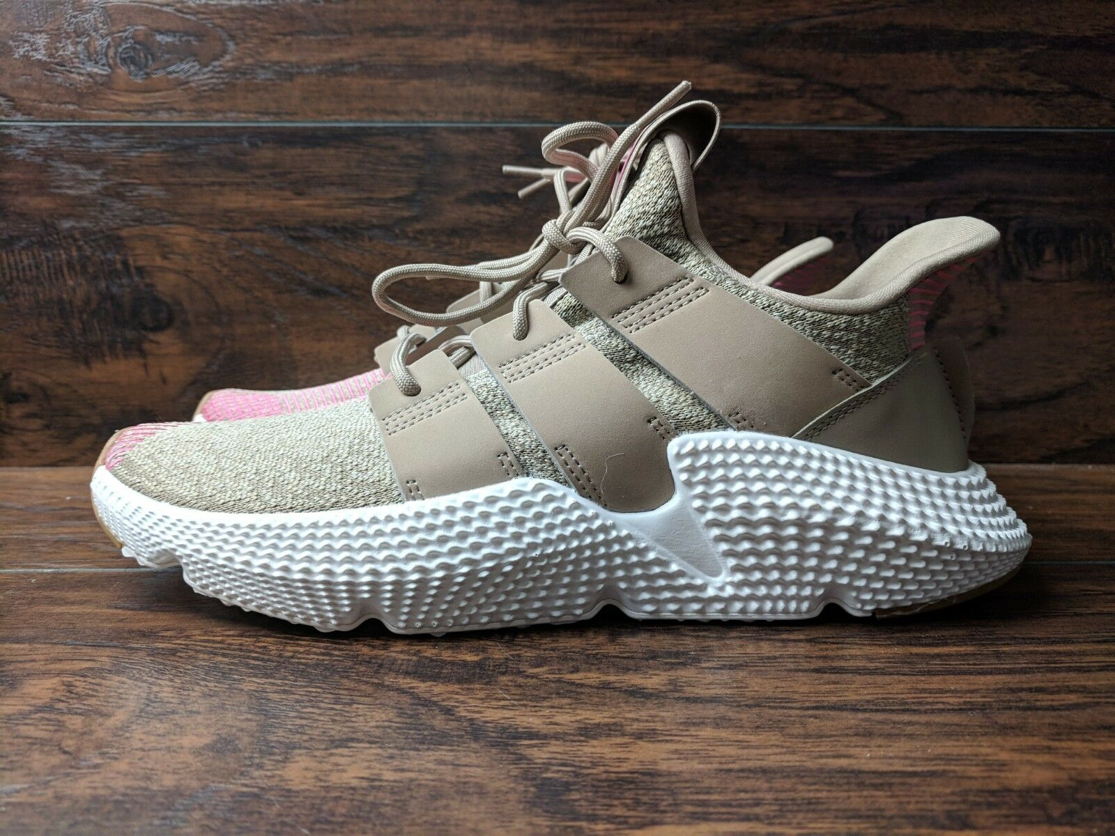 Brand New Adidas Prophere Men's Size 9 Traditional Khaki Chalk Pink