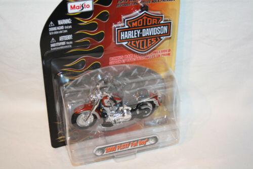 rot//silber Harley Davidson /'00 FLSTF Fat Boy Maisto 1:24