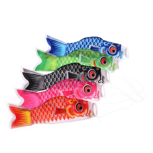 Fashion Japanese Koi Carp Wind Sock Fish Flag Kite Garden Yard Hanging Decor UE