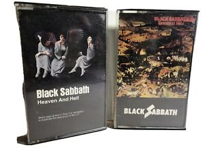 Black-Sabbath-Cassette-Tape-Lot-Heaven-amp-Hell-Greatest-Hits-1st-Editions